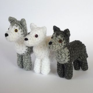 Dire Wolves (Summer, Ghost, Nymeria, Grey Wind, Lady, Shaggydog) From The Game of Thrones Crochet Pattern (pay $3.12)