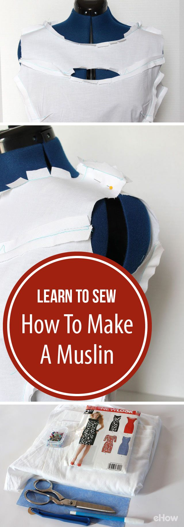 A muslin is essentially a practice garment made from a cheap fabric similar to the type of fabric that will be used for the real garment. Typically, you make one to check for fit as well as determine whether a style is good for your body type.  Great for beginners!  http://www.ehow.com/how_12343144_learn-sew-make-muslin-check-fit.html?utm_source=pinterest.com&utm_medium=referral&utm_content=freestyle&utm_campaign=fanpage