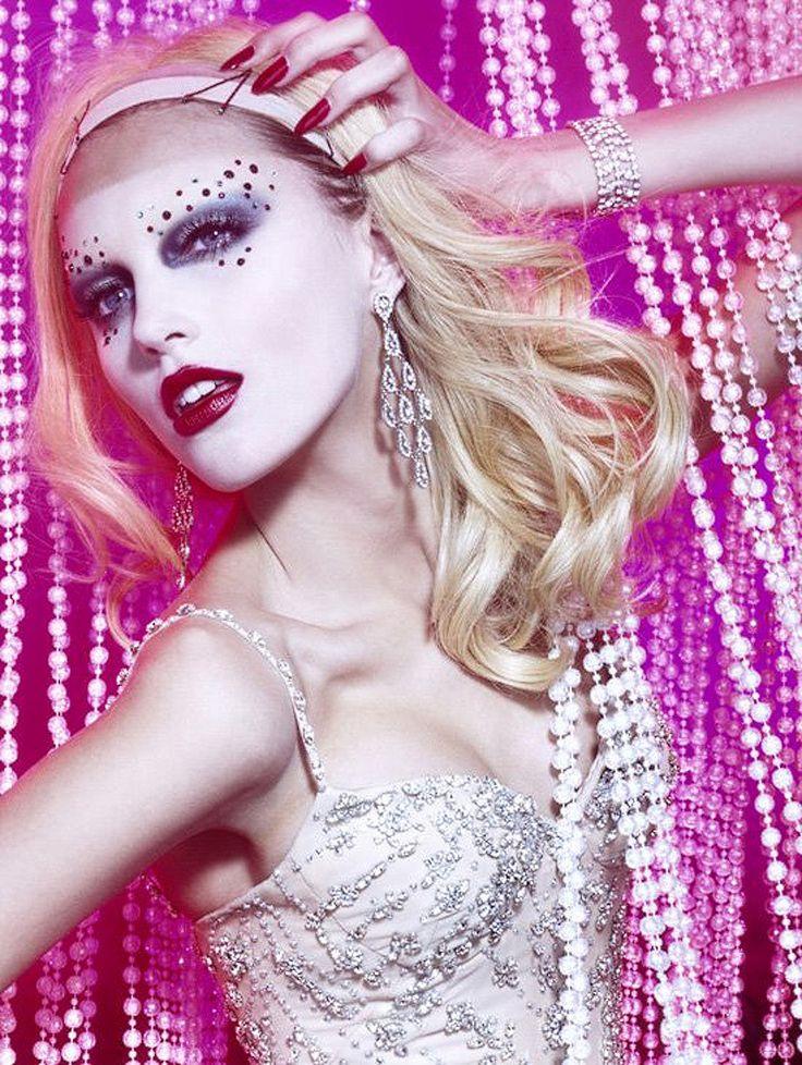 """Anja Rubik in """"Cabaret"""" Photographed Miles Aldridge / For Vogue Italia 2006"""