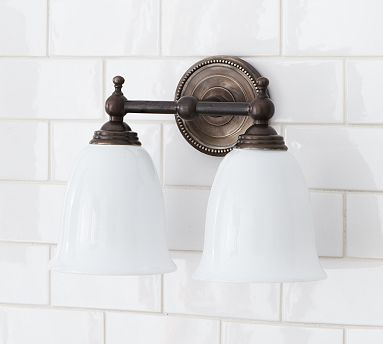Quinn Beaded Double Sconce #potterybarn $119
