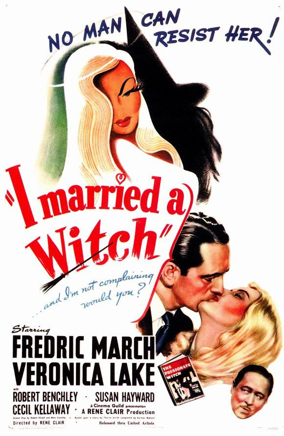 "I Married a Witch 11x17 Movie Poster (1942)(The movie which the popular TV show ""Bewitched"" was based on.:*-) )"