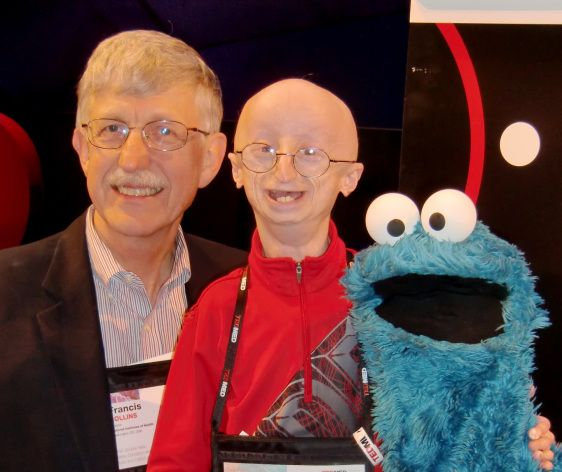 Sam Berns, a courageous young man with Hutchinson-Gilford Progeria Syndrome. Sam may have only lived 17 years, but in his short life he taught the rest of us a lot about how to live