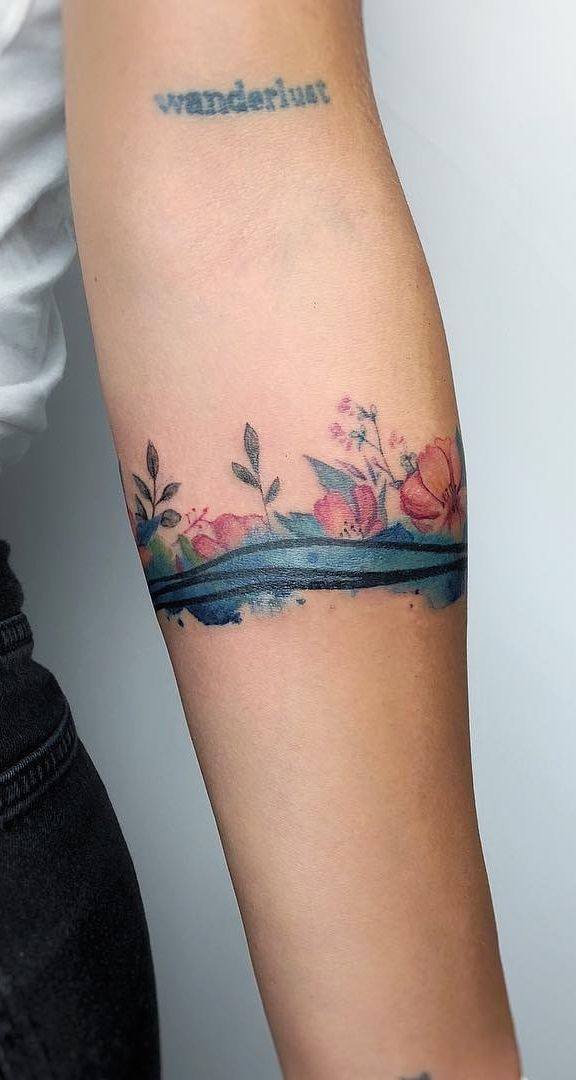 Watercolor Tattoos Will Turn Your Body Into A Living Canvas Arm
