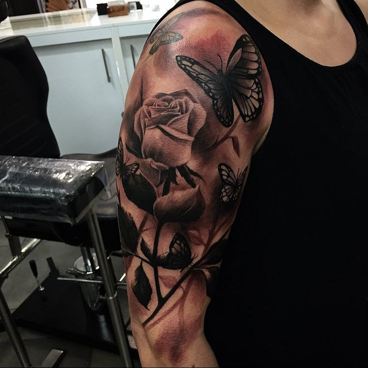 25 Great Ideas About Realistic Butterfly Tattoo On: Best 25+ Rose And Butterfly Tattoo Ideas On Pinterest