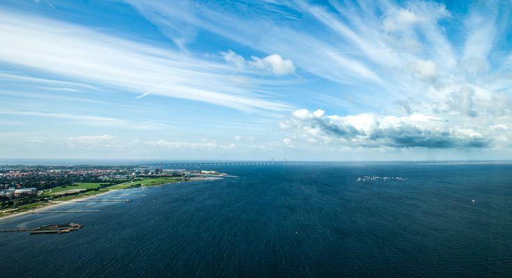Beautiful over view of Malmö and Öresundsbron