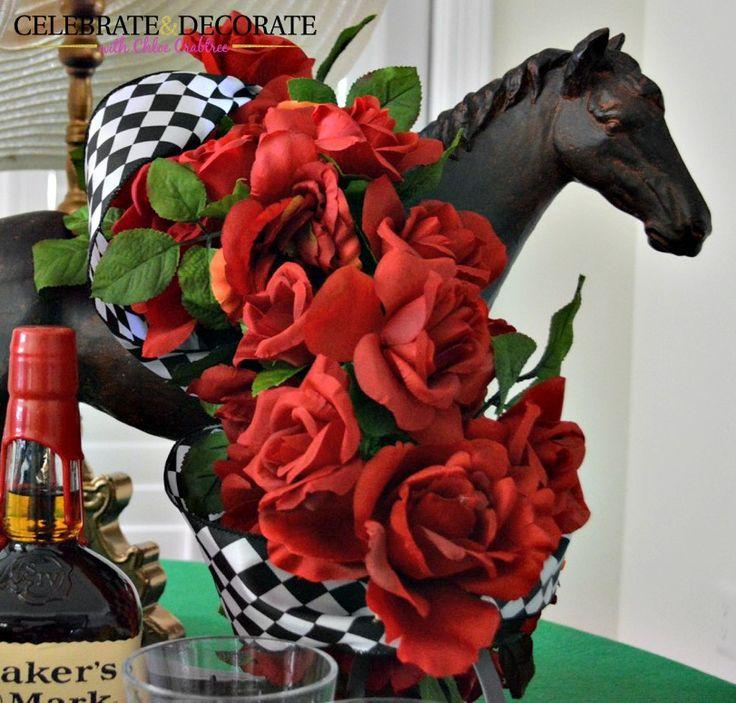 Centerpiece for a Kentucky Derby Party