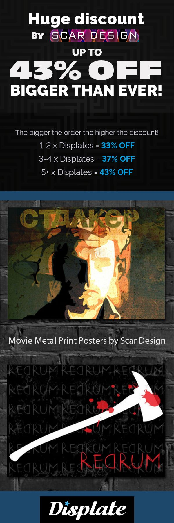 43% OFF METAL PRINT POSTERS! Movie & Gaming Posters on Metal Prints. Stalker movie Poster, Shining movie Poster by Scar Design #poster #displate #homedecor #style #family #tarkovsky #tarkovskymovie #stalkermovie #theshining #theshiningmovie #movieposter #onlineshopping #shopping #sales #discount #save #movies #film #cinema #bookposter #art #thanksgivinggifts #christmasgifts #buymovieposters