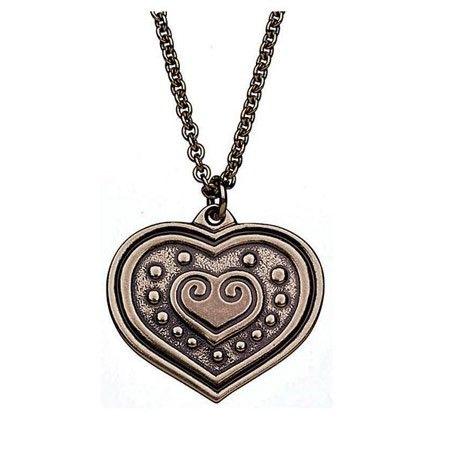 """Kalevala Koru Euran sydän, riipus, pronssi. Sydän on vahva rakkauden symboli. Se ilmaisee myös ystävyyttä, myötätuntoa ja elämäniloa. Sydänaiheinen koru on ollut suosittu niin ystävysten kuin rakastavaistenkin kesken. Sopiihan se lahjaksi jokaiselle, jolla on """"sydän paikallaan"""". Korun esikuva on peräisin Euran Pappilanmäestä viikinkiajalta 800-1050 jKr."""