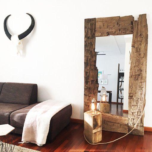 25 beste idee n over staande spiegel op pinterest for Houten spiegel
