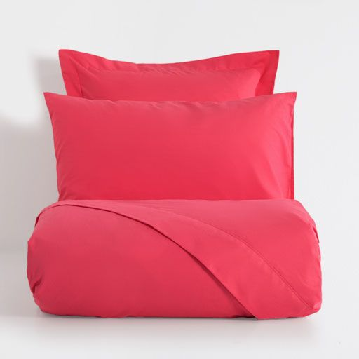 Image of the product Basic coral pink percale bed linen