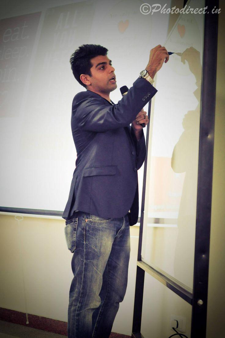Kaushal Social Media Strategist For Web Marketing Academy Was The Speaker For Pinterest Training Social Media Strategist Pinterest Training Pinterest Workshop