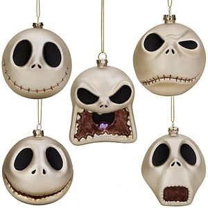 Disney 2010 Nightmare Before Christmas Mercury Glass Ornaments