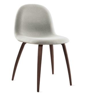 Gubi chair in heathered grey with walnut base (DWR)