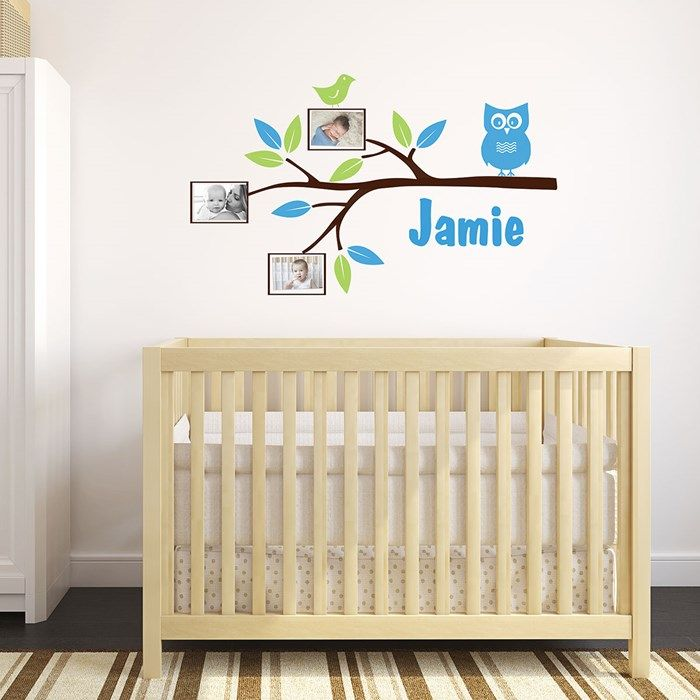 Personalised Wall Sticker - Branch With Photo Frames| GettingPersonal.co.uk