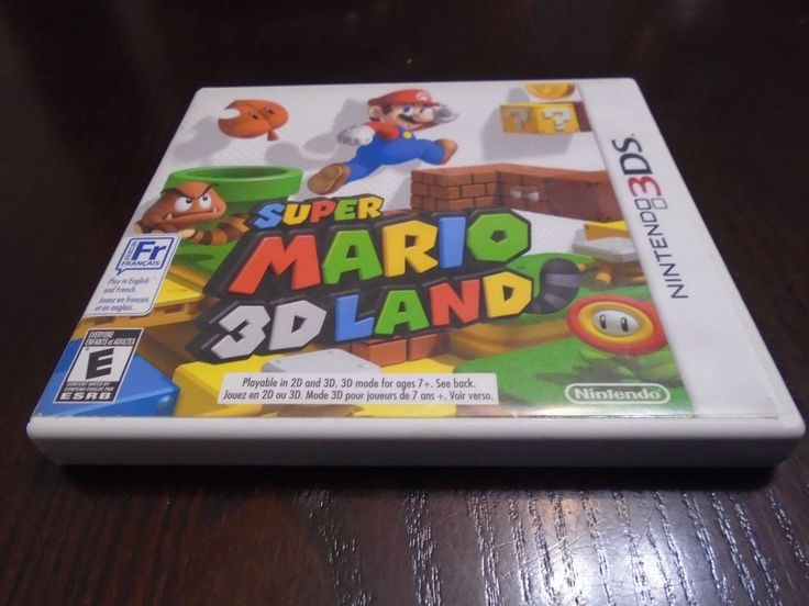 Nintendo 3 DS Super Mario 3D Land Bilingual Tested free shipping!!!