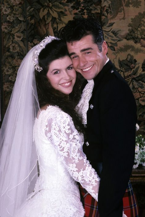 Duke Lavery and Anna on wedding day GH