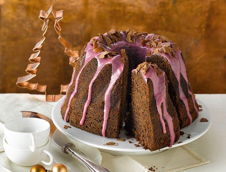 Glühwein-Chocogugelhupf - sehr saftig und angenehm weihnachtlicher Geschmack!