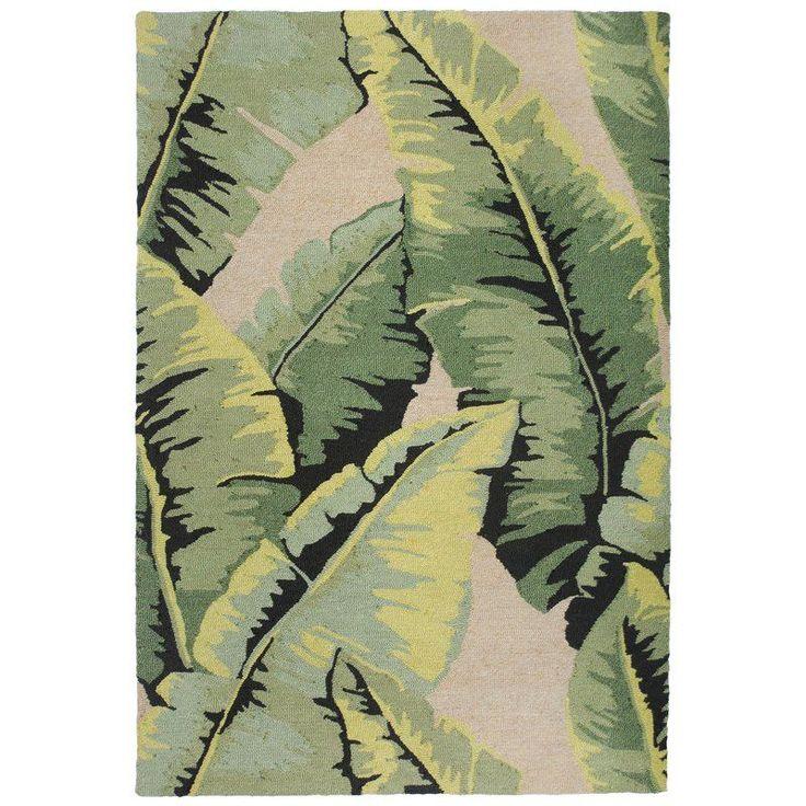 Bayou Breeze Arida Palm Hand-Tufted Green Indoor/Outdoor Area Rug & Reviews | Wayfair #outdoorsarea