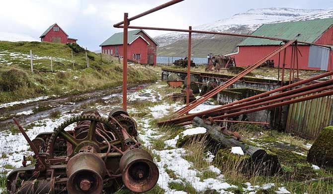 "Við Áir is a former whaling station on the east coast of Streymoy in the Faroe Islands, near the village Hvalvík.    Við Áir means ""by the rivers"" (á mean... Get more information about the Við Áir Museum on Hostelman.com #attraction #Faroe #Islands #museum #travel #destinations #tips #packing #ideas #budget #trips"