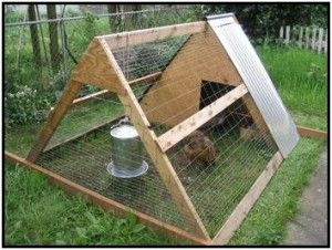 a frame chicken tractor - reversible shweshwe bags