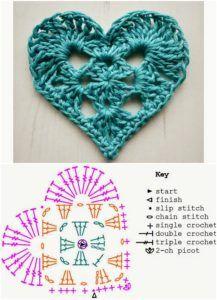 horgolt szívek leírással -gyűjtemény 15 crochet heart with pattern