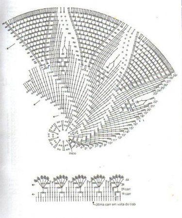 вязаный коврик 0009