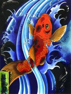 Japanese koi fish art