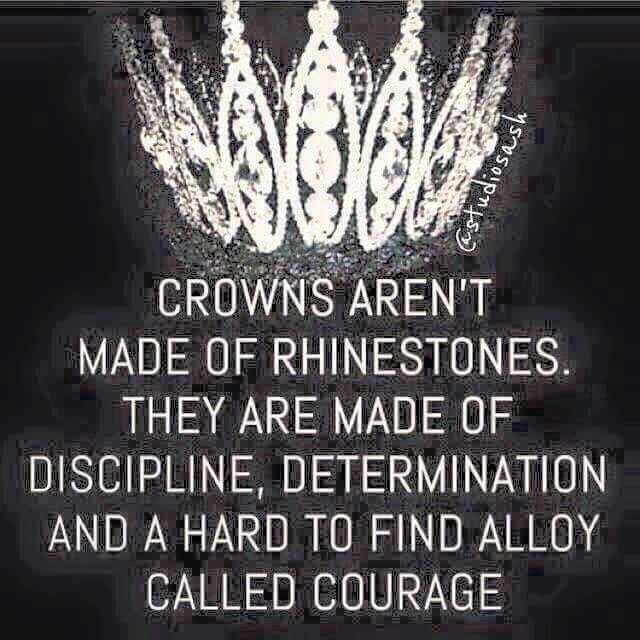I thought crowns were made of diamonds and kingdoms were made of courage?!