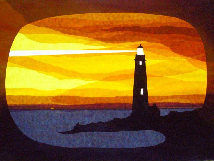 Fensterschmuck - Sonnenuntergang hinter Leuchtturm - ein Designerstück von art4windows bei DaWanda