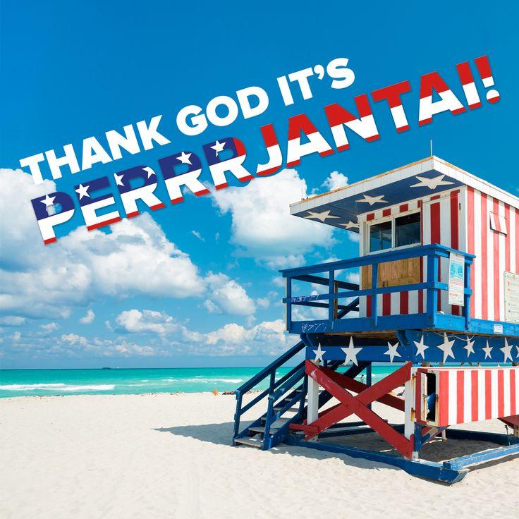 Thank god it's PERRRJANTAI! Yhdysvaltain itsenäisyyspäivä, 4th of Julyn, kunniaksi julkaisemme todellisia SUPERRRtarjouksia: Miamin matkat, Bahaman risteilyt sekä Miami-Aruba yhdistelmälomat -200 €/aikuinen, kun varaat matkasi tänään. Nopeus on valttia, paikkoja on saatavilla rajoitetusti! #matkailu #matkat #matkatarjous #alennus #aurinkomatkat #Miami #TGIF