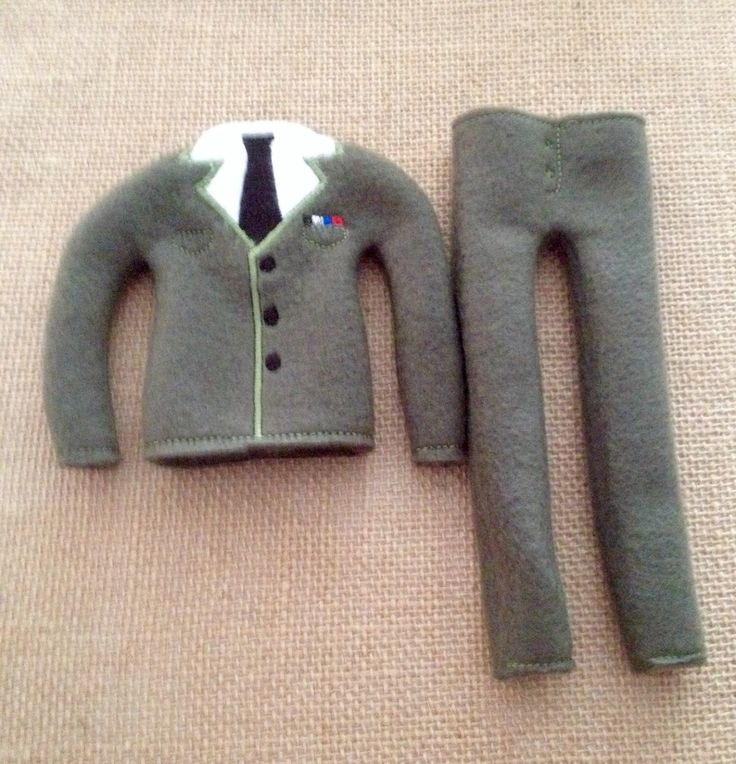 """Elf Army Sweater and Pants Set for your favorite Elf or 12"""" Doll by LoveOnANeedle on Etsy"""