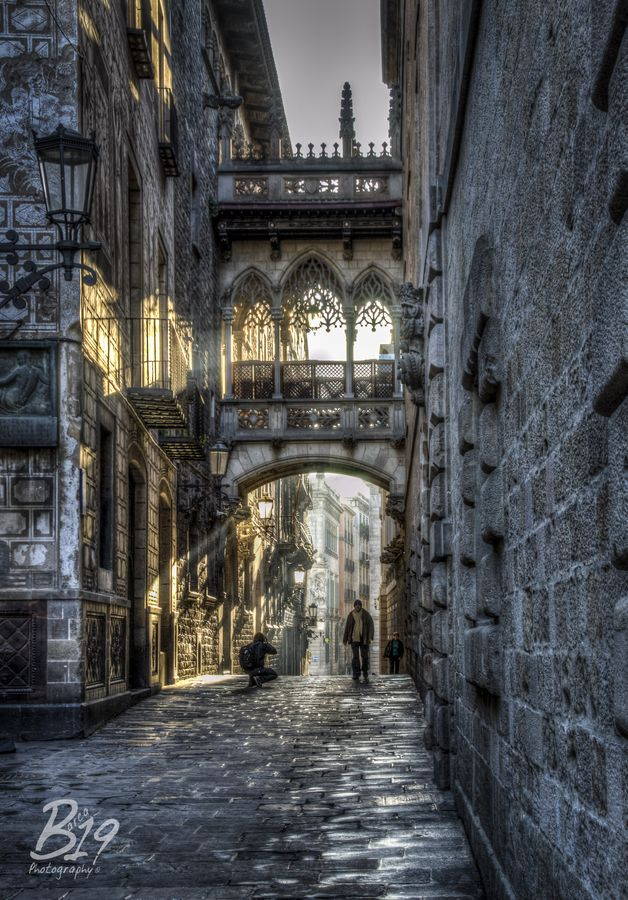 The Gothic Quarter, Barcelona, Spain. One of the best places (maybe THE best place I've ever been).