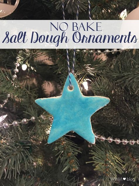 These no bake salt dough ornaments are simple to put together. With 3 ingredients they come together perfectly making the most special homemade gift.