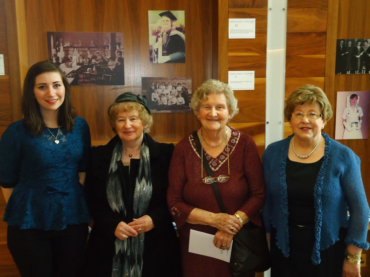 Ella Hassett, Josie Conway, Kathleen Ryder and Carmel Heneghan visiting the exhibition, March 2013