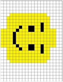 lego man crochet graph - Crochet / knit / stitch charts and graphs