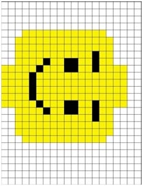 lego man crochet graph - Crochet / knit / stitch charts and graphs