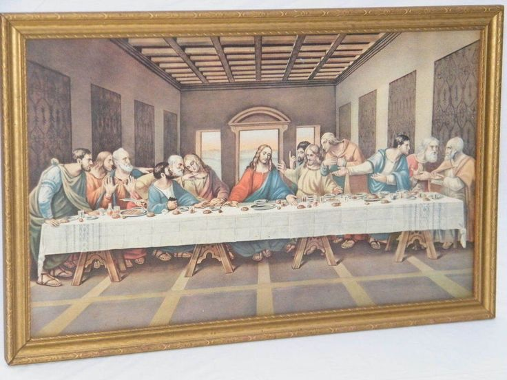 Details About Mid Century Lambert 1950s The Last Supper By