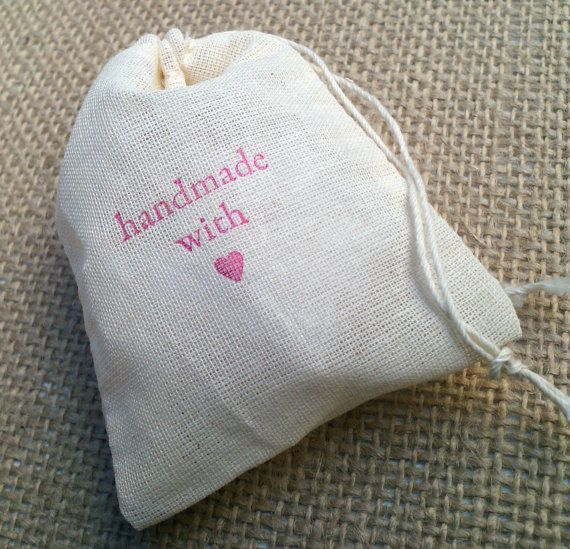 Handmade with Love Cloth Favor and Packaging Bags  4 by ideachic, $8.00