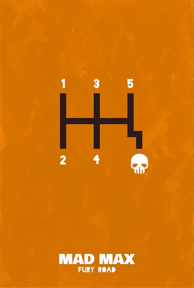 Mad Max: Fury Road (2015) ~ Minimal Movie Poster by sanjar ~ Oscars 2016 Nominees #amusementphile