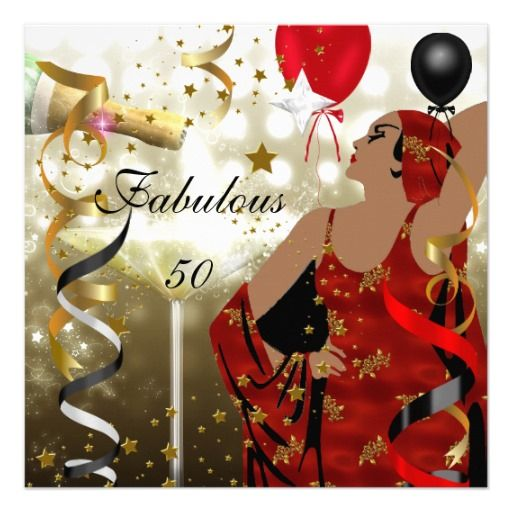 Glamorous Lady Fabulous 50 Fifty Birthday Party