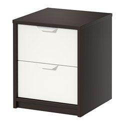 IKEA - ASKVOLL, Ladekast 2 lades, , De lades zijn makkelijk te openen en te sluiten. Met blokkeerstuk.