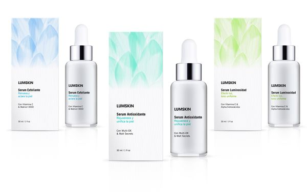 Lumskin -  Skin Care Serums by marisol escorza, via Behance