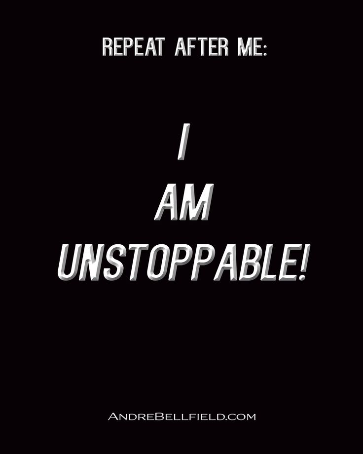 Declarations by Andre Bellfield - I AM UNSTOPPABLE!
