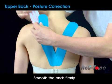 Acti-Tape - Upper Back - Posture Correction - YouTube
