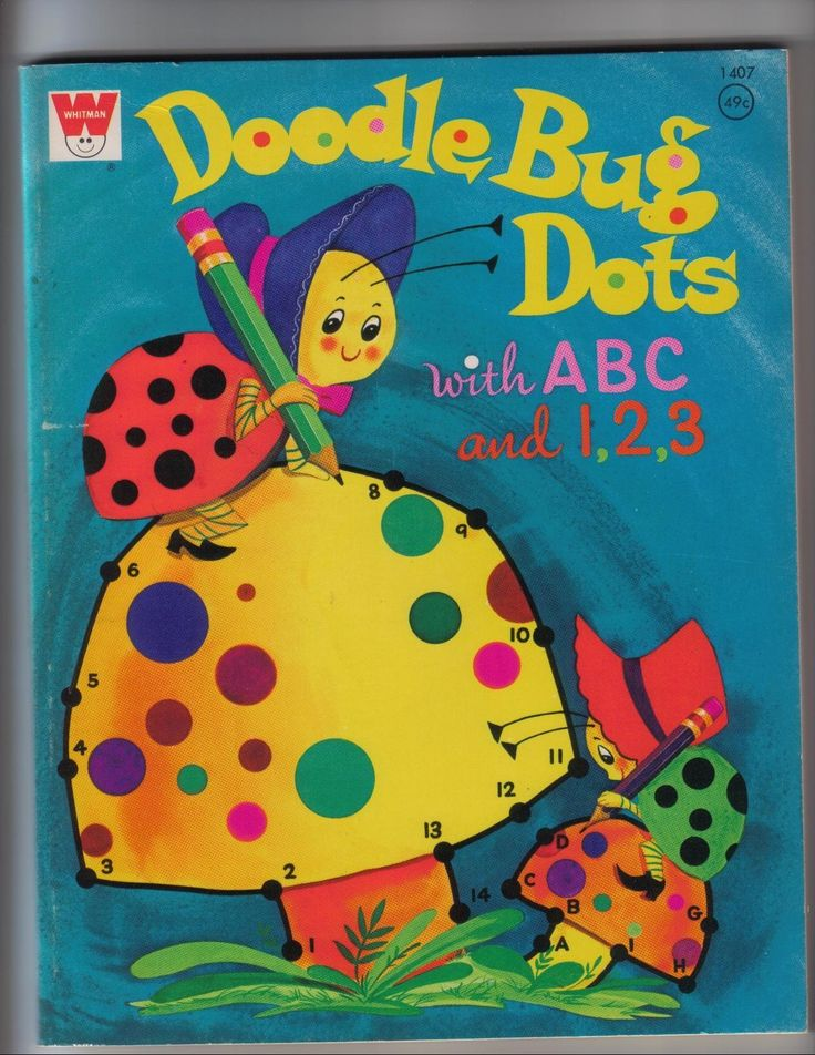 Doodle Bug Dots With ABC And 1 2 1972 Whitman Coloring Book