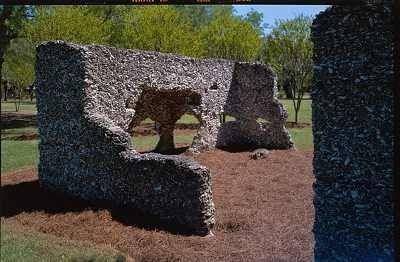 Tabby slave cabin ruins are located in the private Haig Point district on Daufuskie Island, SC, which can only be accessed by ferry.