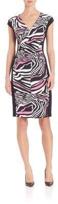 Escada Zebra-Print Dress
