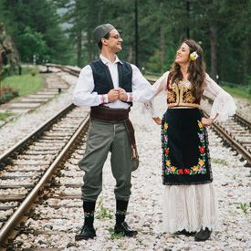 Part Two of Sarah and Andrej's wedding in Serbia - We travel the countryside in an antique train and party Serbian style