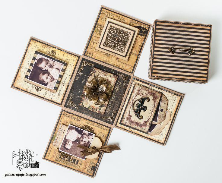 Retro Tutek: Magnetyczny exploding box Olgi / Retro Tutorial: Olga's magnetic exploding box