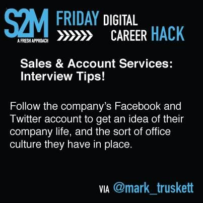 Career Hack #9 - Interview Tips for Sales & Account Services